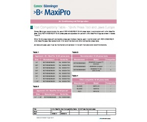 >B< MaxiPro Tool Compatibility 19 kN Europe English
